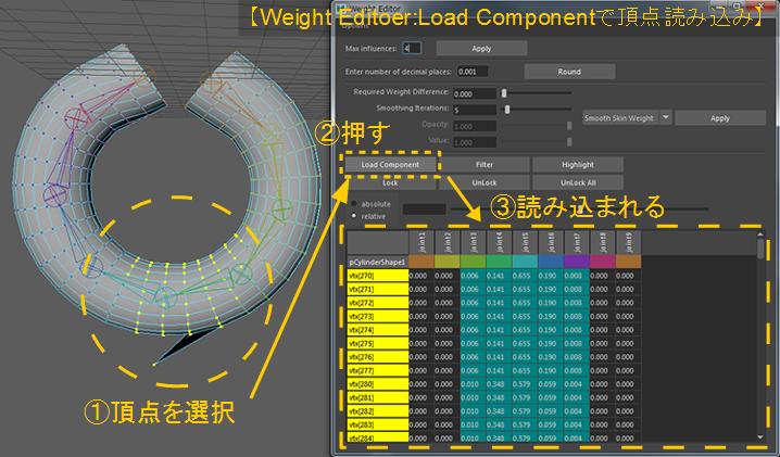 Load-Componentで頂点読み込み
